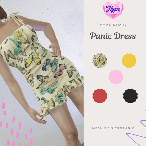 Release Free Panic Dress for Female Releases