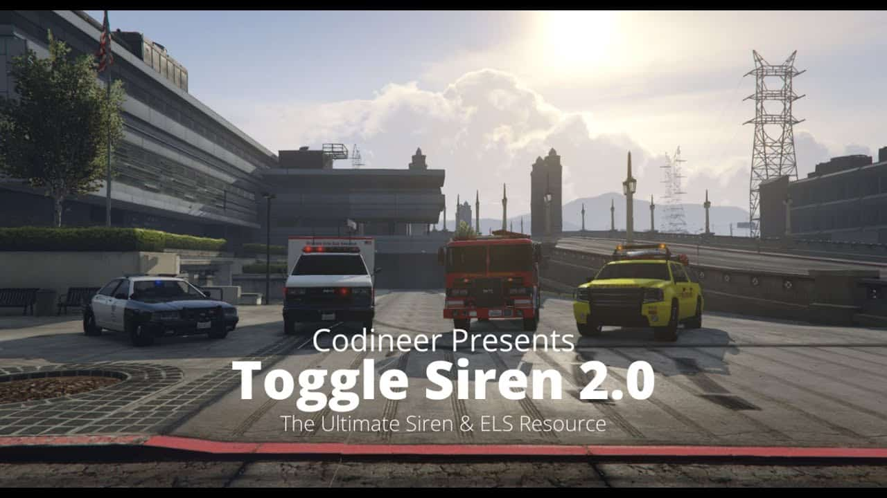 FiveM script OneSync compatible Ultimate Siren ELS Resource Toggle Siren