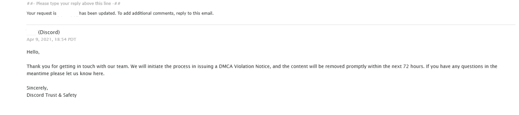Stolen Leaked Resources How To DMCA Request Discord